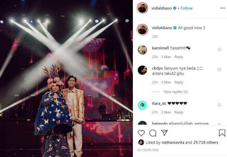 momen Vidi duet bareng Melly Goeslaw Instagram
