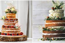 Viral, kue pengantin tujuh tingkat digantung seperti lampu