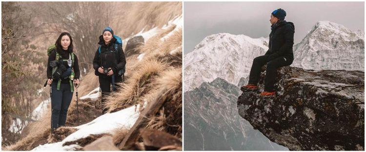 9 Potret Nikita Willy mendaki Himalaya, taklukan Mardi Himal