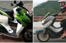 10 Potret lucu sepeda motor cuma ada di Indonesia, kocak pol