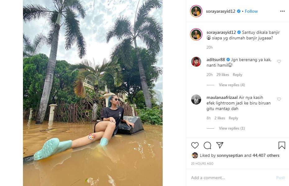 Gaya santai seleb di tengah banjir Instagram