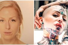 10 Potret transformasi Cigno, wanita penuhi tubuhnya dengan tato