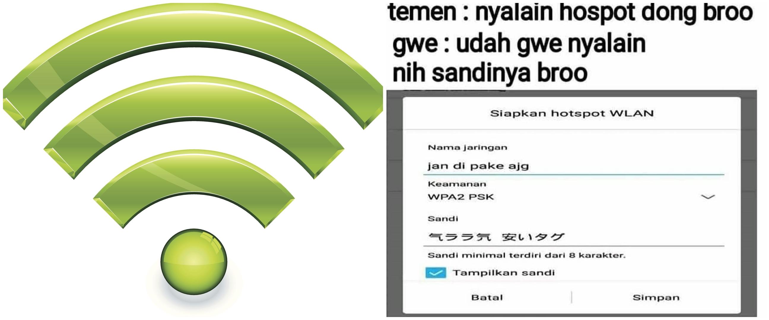 10 Password WiFi nyeleneh ini bikin emosi