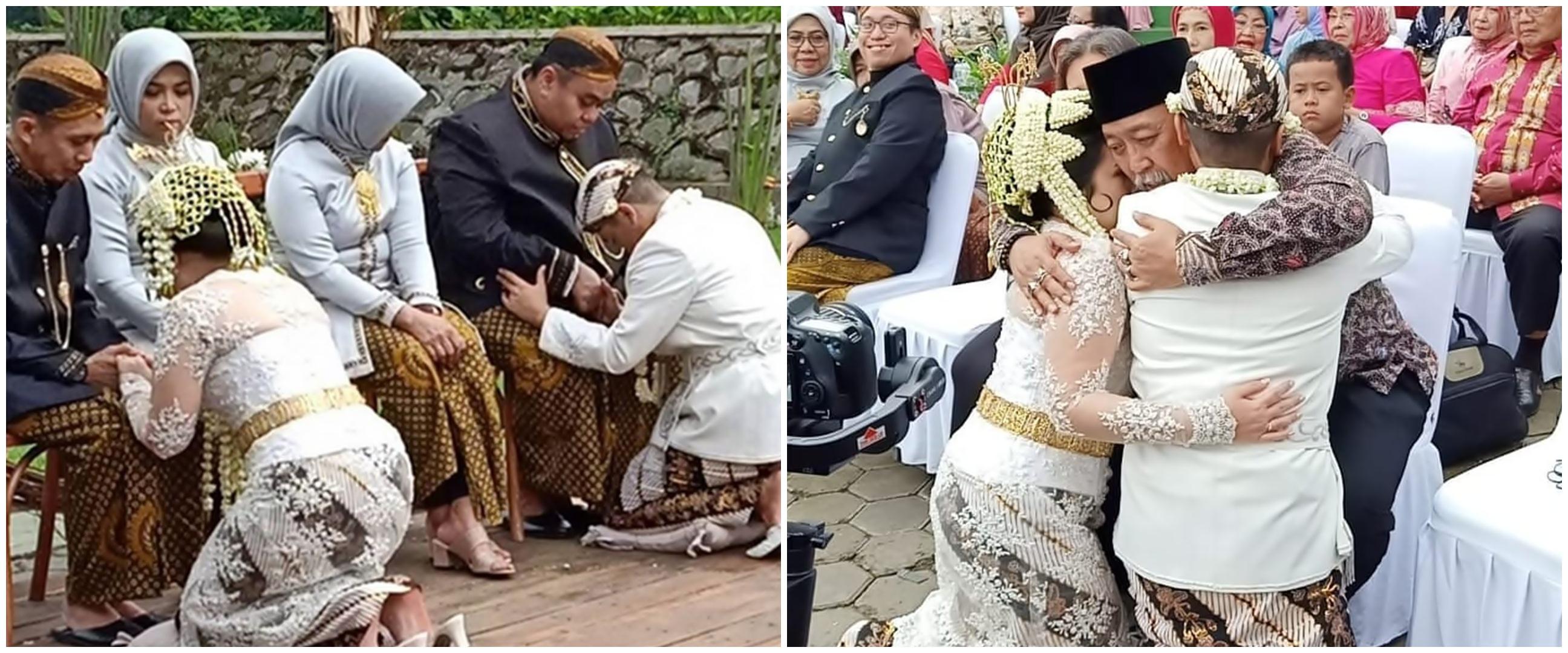 7 Momen pernikahan Satrio anak Dono Warkop, Indro jadi saksi