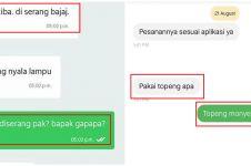 10 Chat lucu driver ojek online salah ketik, endingnya kocak
