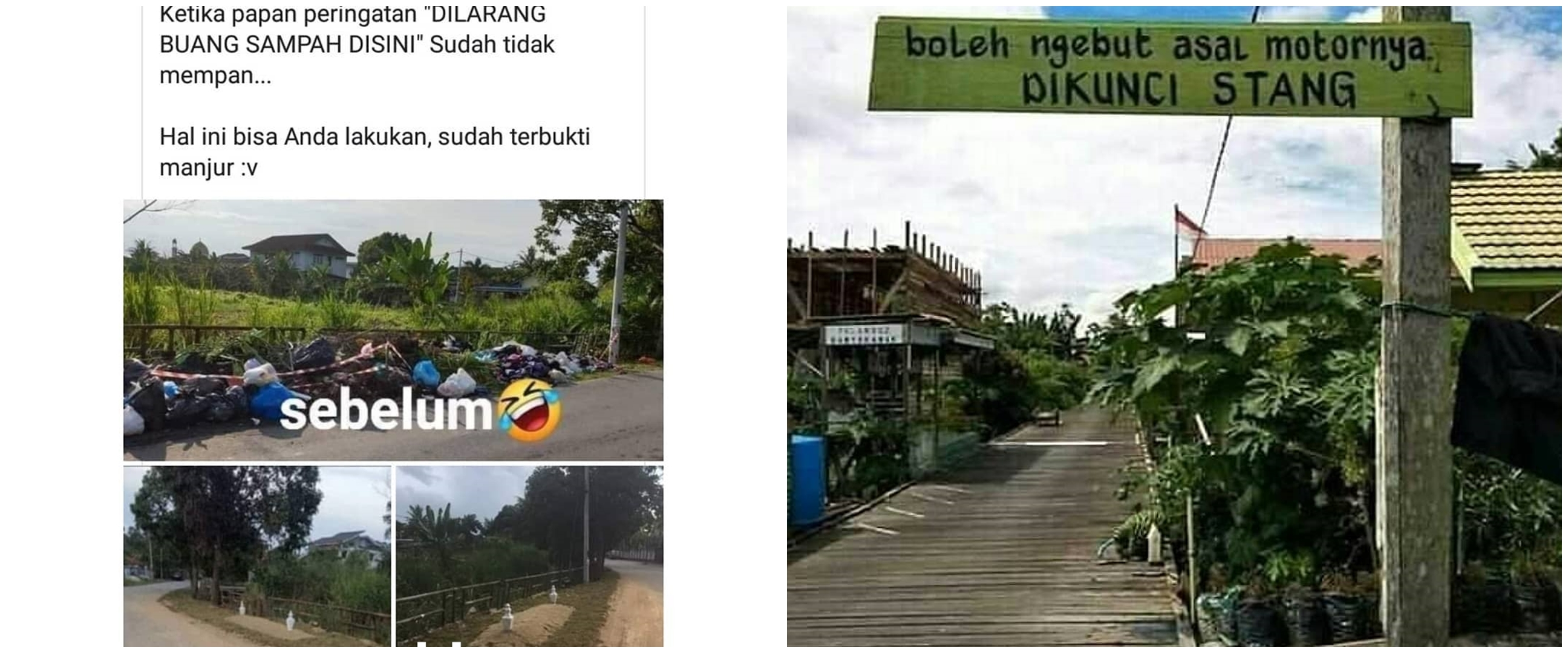 10 Potret lucu jenis peringatan di Indonesia, kocak