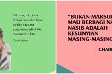 40 Kata-kata bijak kehidupan Chairil Anwar, inspiratif dan puitis