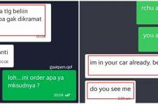 10 Chat serem pelanggan ojek online ini bikin driver bergidik