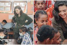 Tetap cantik natural, ini 7 potret Raline Shah mengajar di Papua