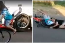 5 Video pengguna sepeda ini bikin ingin ketawa tapi takut dosa