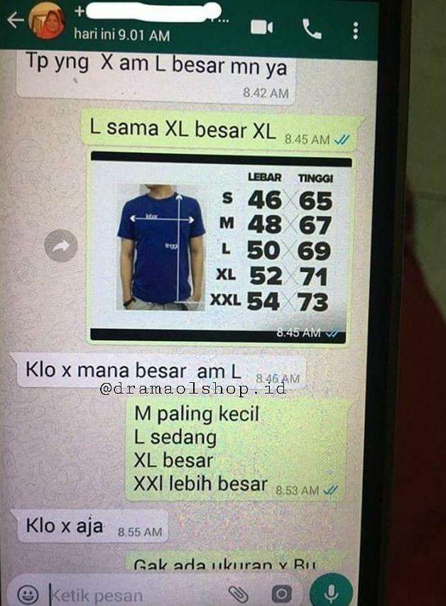 chat lucu pembeli online shop tanya barang © 2020 instagram.com