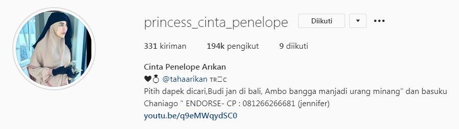 Pria bule calon suami Cinta Penelope Instagram