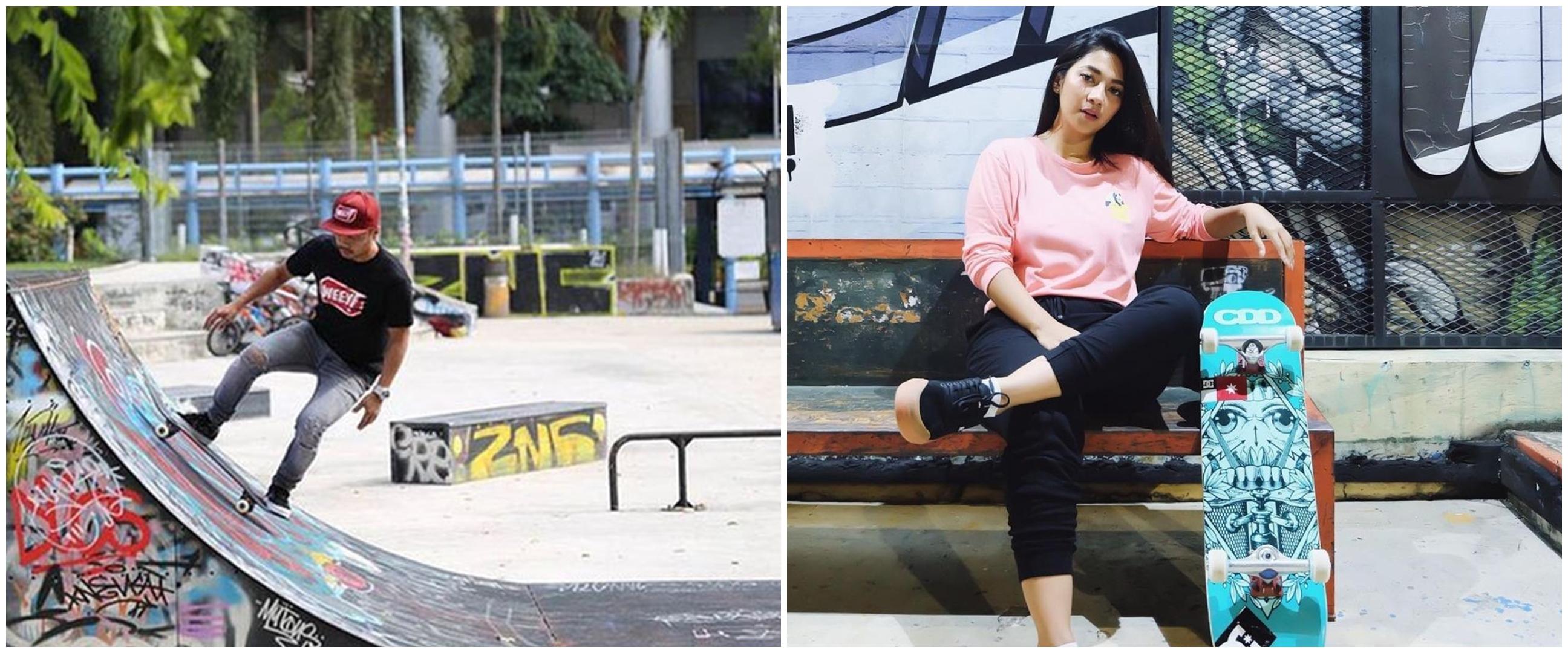 8 Artis Indonesia yang hobi skateboard, ada Dinda Kirana