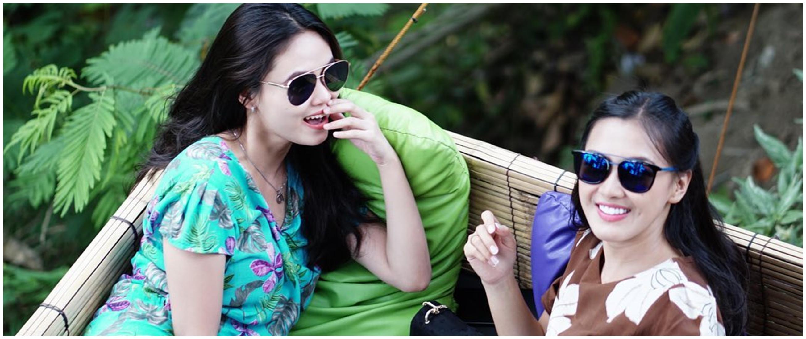 7 Potret kompak Ana dengan Dwinda, dua istri Mas Pur di TOP & realita