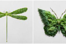 10 Kreasi hewan dari daun ini detailnya bikin melongo