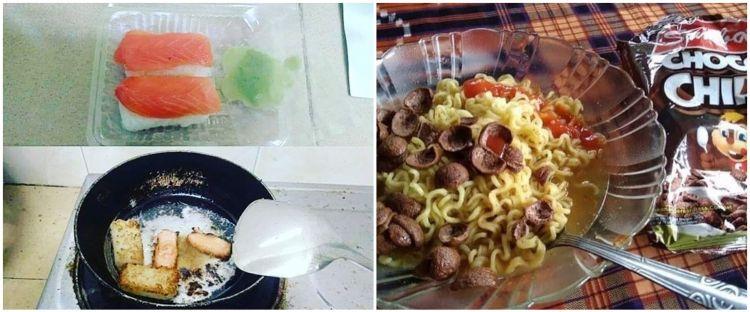 10 Cara nyeleneh menikmati makanan ala orang Indonesia ini kocak