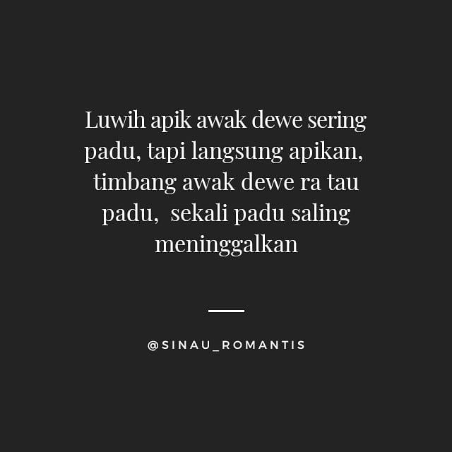 60 bucin Jawa romantis instagram