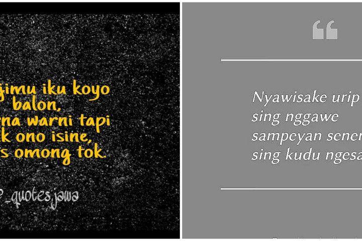 40 Kata-kata sindiran bahasa Jawa, kocak dan ngena