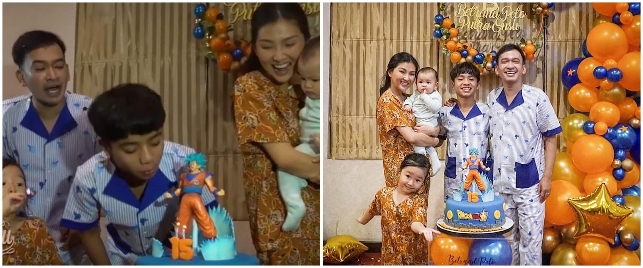 8 Momen kemeriahan ulang tahun Betrand Peto, bertema Dragon Ball