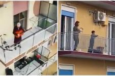 5 Kondisi warga Italia saling beri semangat saat lockdown Corona