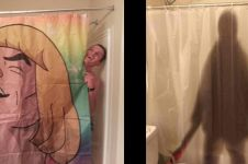 10 Potret tirai kamar mandi ini lucu tapi absurd banget
