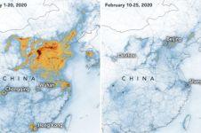 Potret sesudah dan sebelum lockdown di China & Italia, turunkan polusi