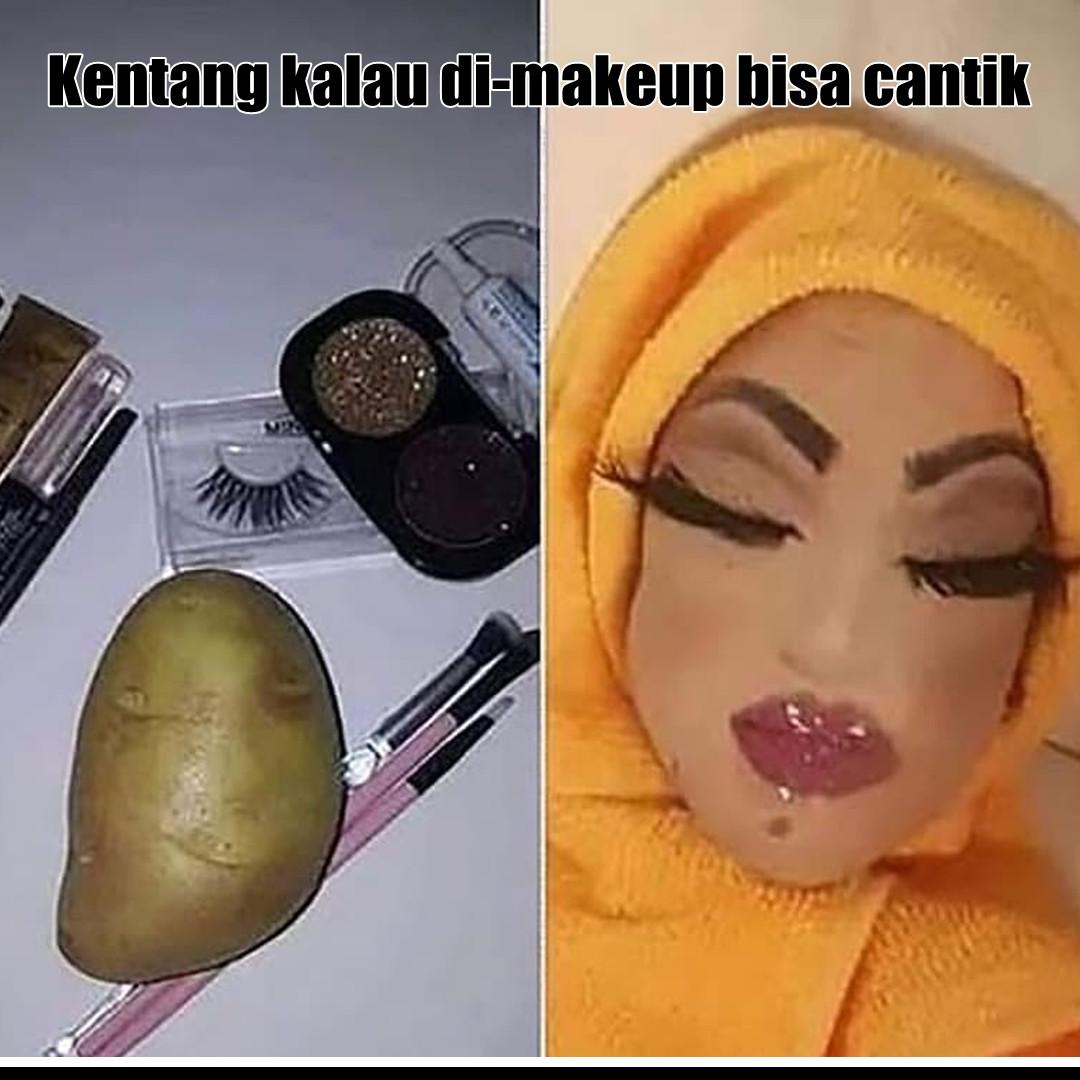 10 Potret lucu 'The Power of Makeup' ini bikin cekikikan