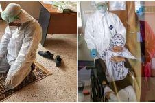 Saat lelah urusi pasien Corona, petugas kesehatan tak lupa ibadah