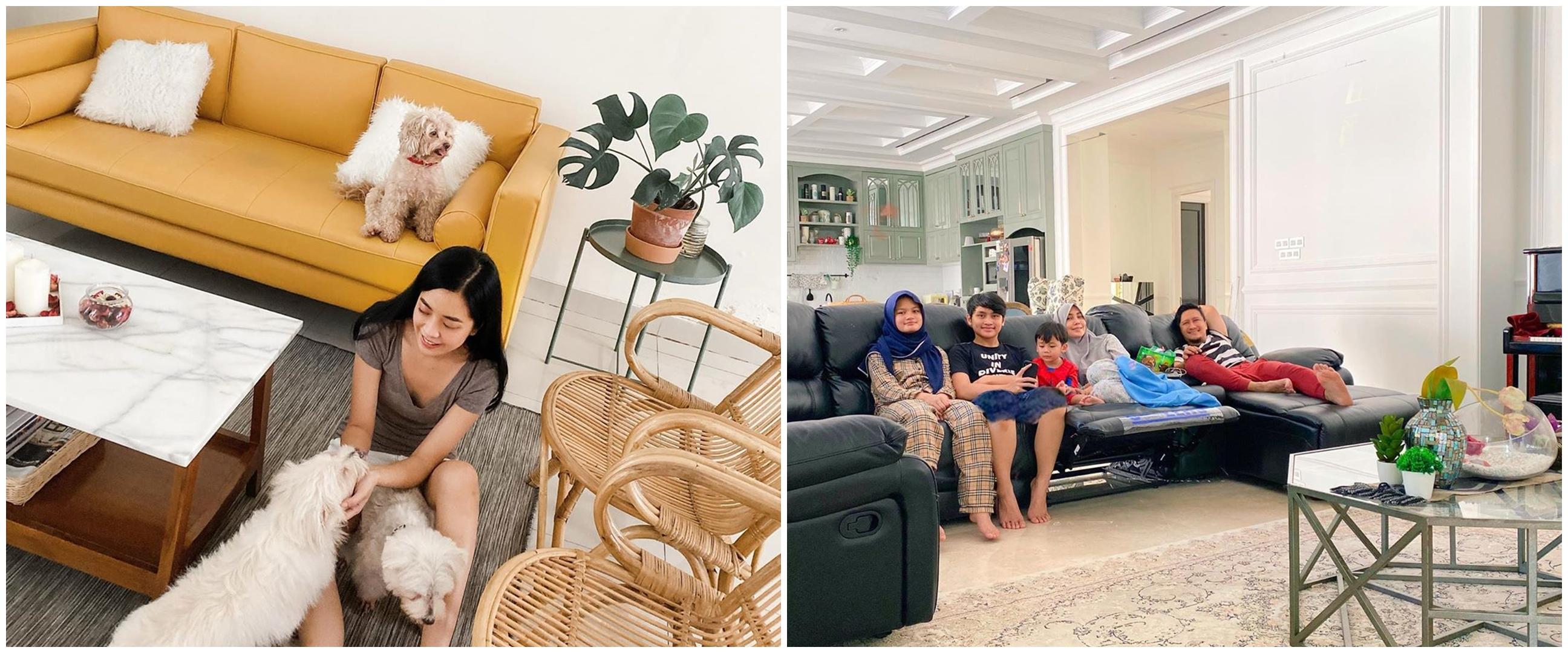 Pilih isolasi di rumah, potret rumah 4 seleb ini bikin salah fokus