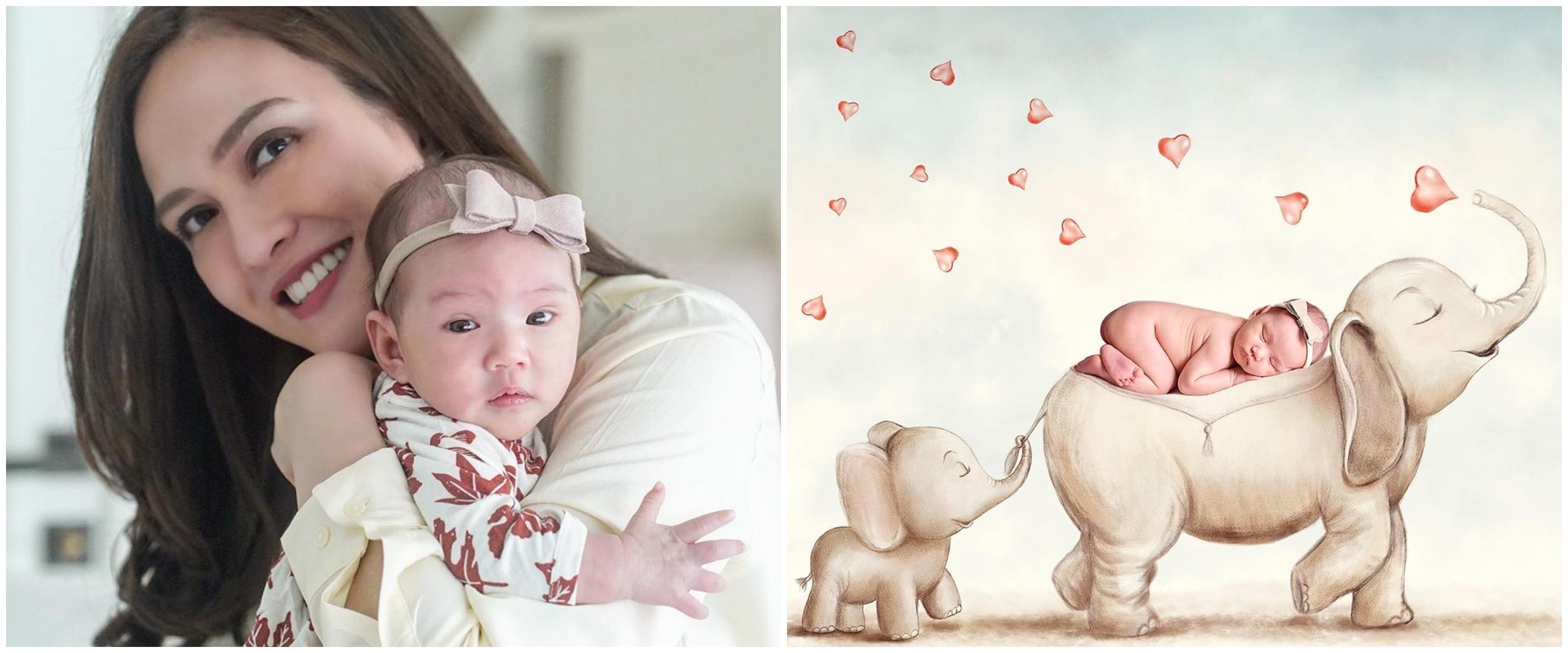 8 Potret newborn putri Shandy Aulia, gabungkan lukisan & foto