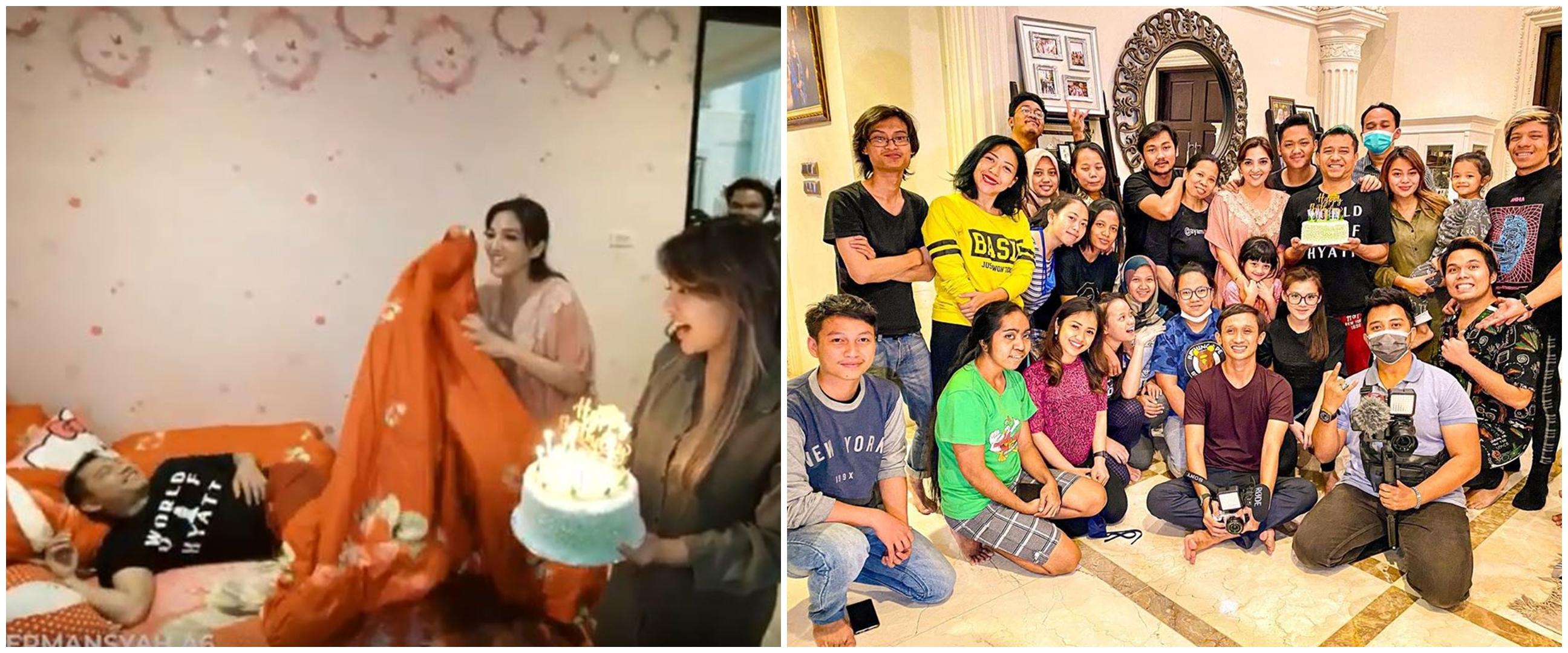 7 Momen ulang tahun Anang Hermansyah, kehadiran Atta jadi sorotan