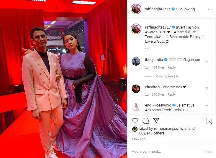 Nagita Slavina tuai kritikan © 2020 Instagram/@raffinagita1717