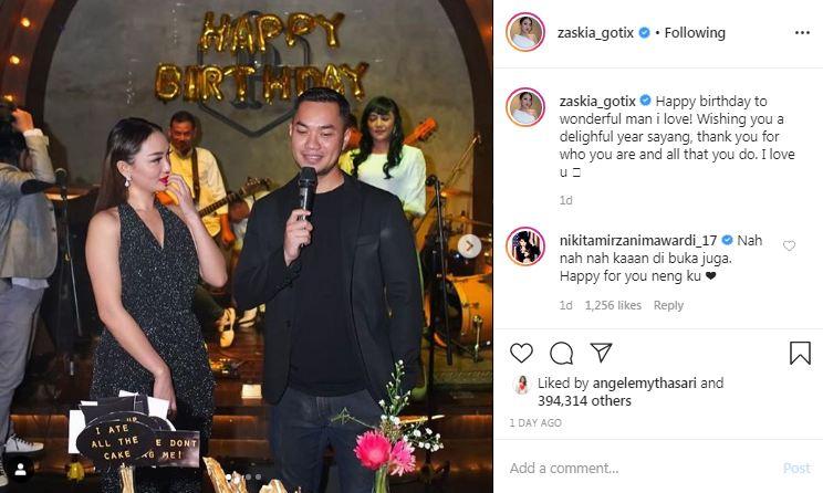 reaksi Zaskia Gotik © 2020 Instagram/@zaskia_gotix