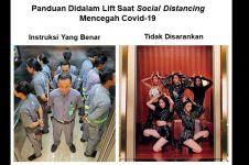 5 Meme panduan penggunaan lift saat social distancing, nyeleneh