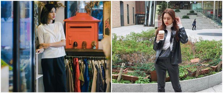 10 Inspirasi outfit monokrom ala Mikha Tambayong, stylish abis