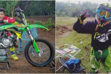 7 Aksi ekstrem Tegar Septian bermain motocross, bikin ngeri