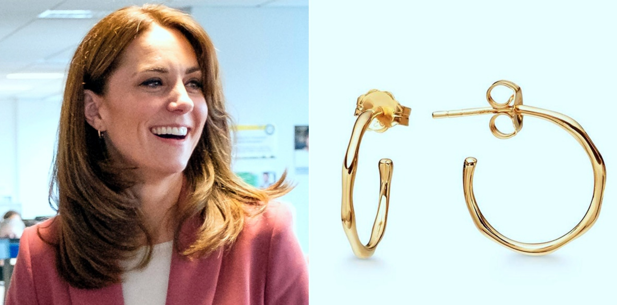 Kunjungi pusat medis Covid-19, anting Kate Middleton curi perhatian