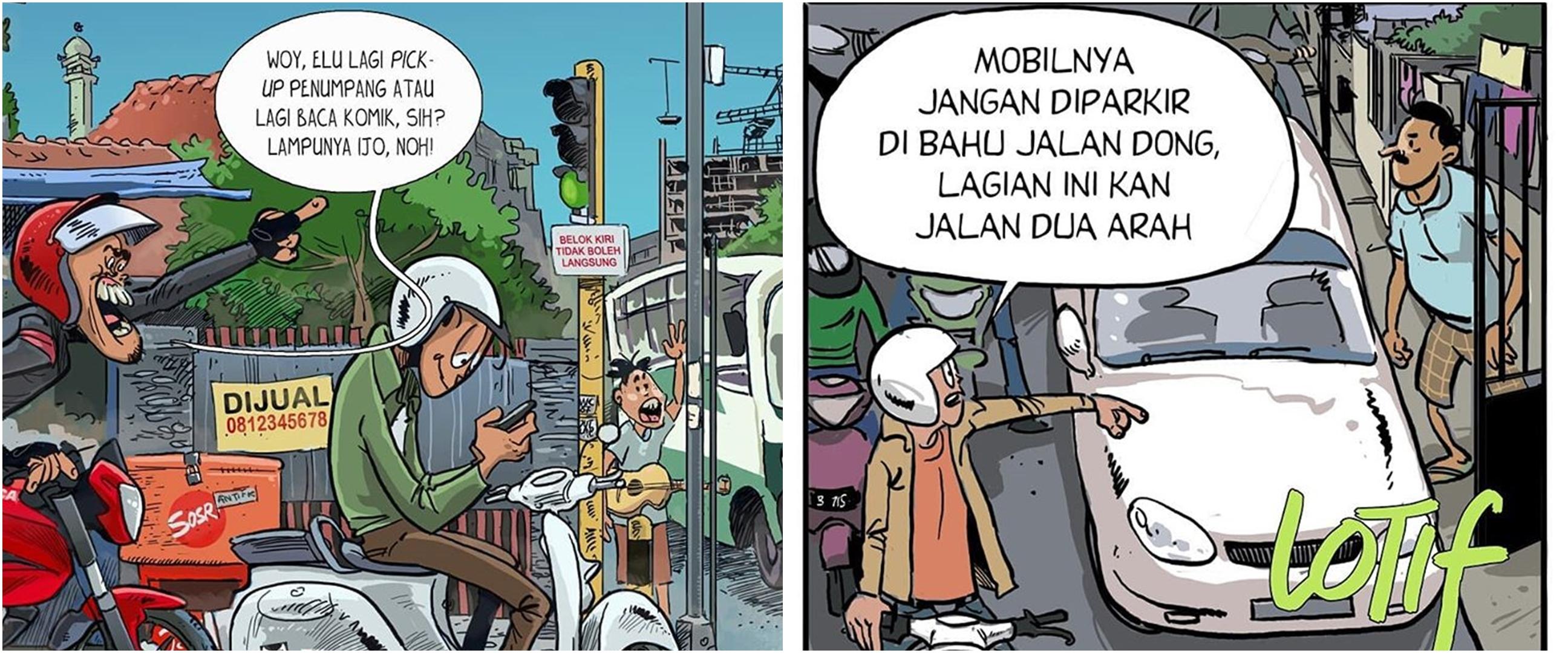 6 Komik ini menyindir pengguna jalan, ngena banget