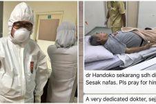 Potret terbaru Dokter Handoko Gunawan, ceria di balik ruang isolasi
