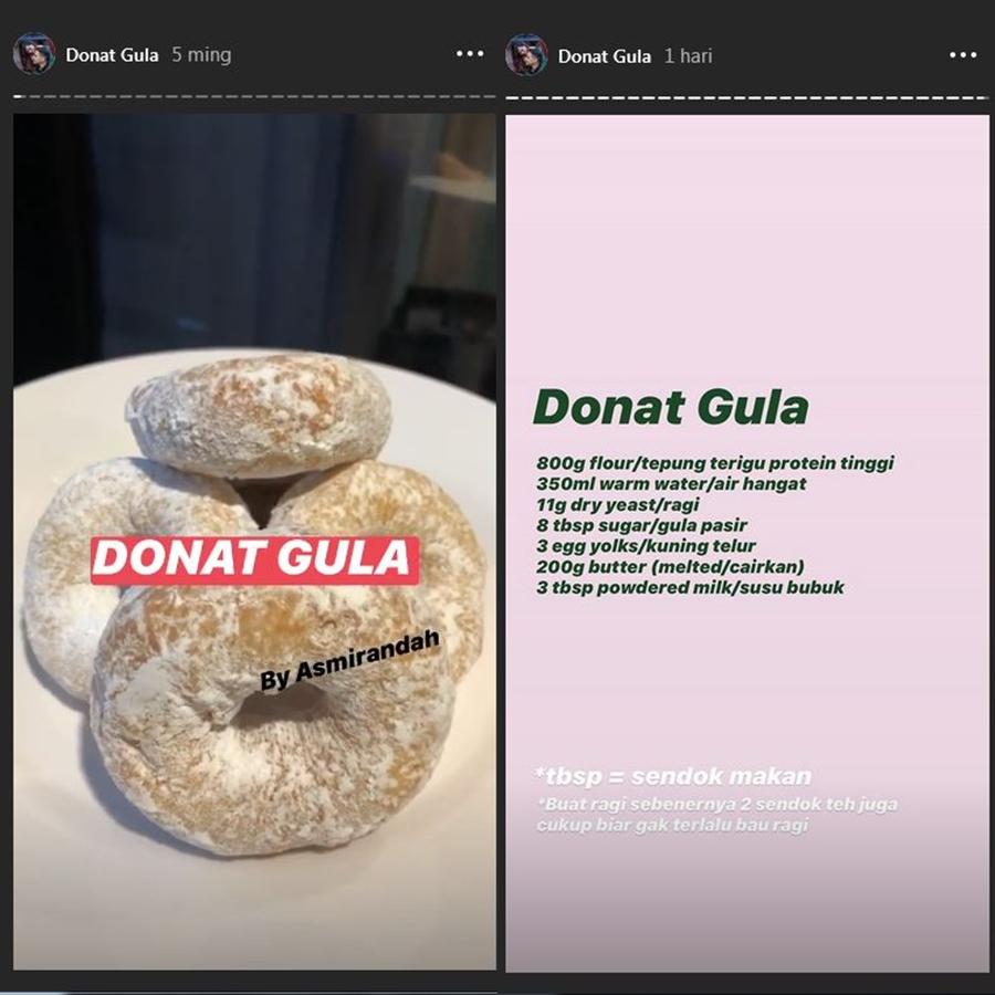 Resep kue Asmirandah  Instagram