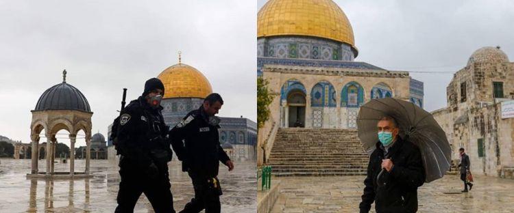 9 Potret kondisi Masjid Al-Aqsa usai ditutup karena corona