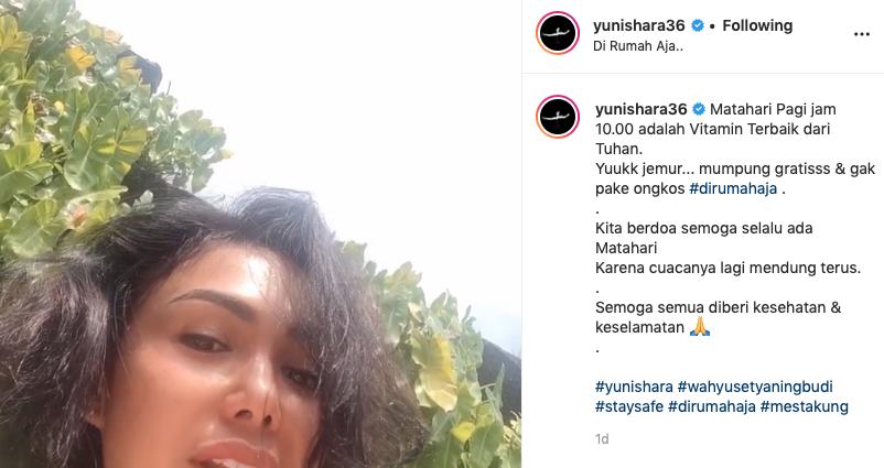 Aktivitas penyanyi saat isolasi diri di rumah Instagram
