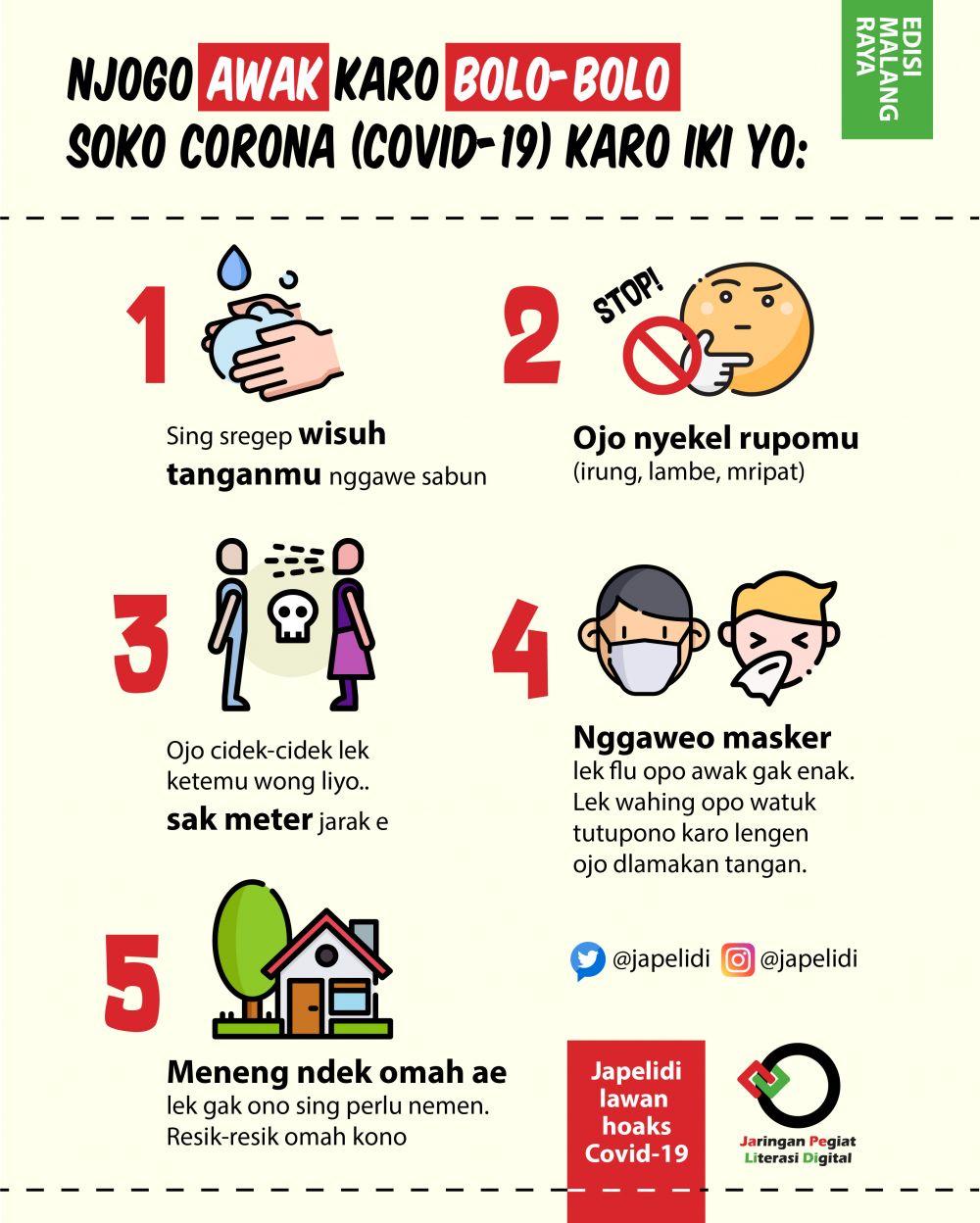 10 Poster Imbauan Waspada Corona Pakai Bahasa Daerah Unik