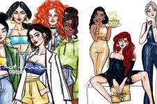 10 Ilustrasi karakter Disney ini terlihat stylish, fashionable