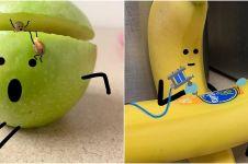 10 Foto imajinasi buah-buahan berperilaku bak manusia bikin takjub