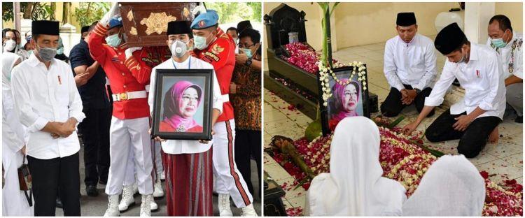 8 Potret pemakaman ibunda Jokowi, dikebumikan di samping pusara suami