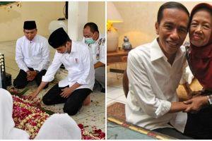 Potret Presiden Jokowi usap air mata ditinggal sang ibunda, haru
