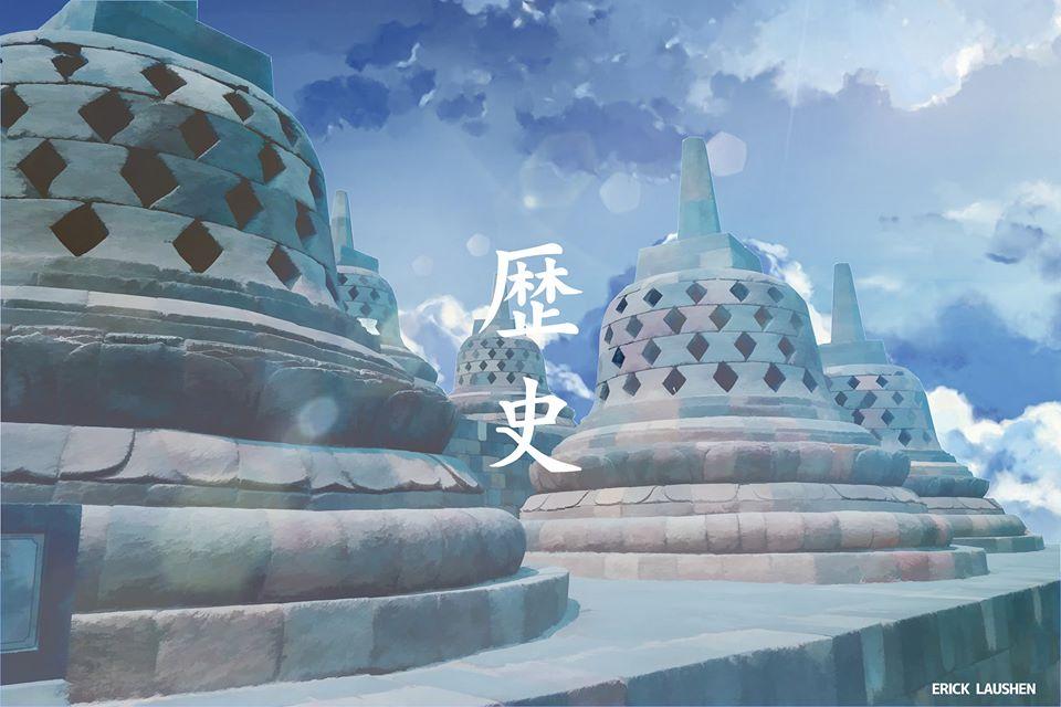 Potret ikon kota di Indonesia mirip animasi Jepang Facebook/eriklaushen