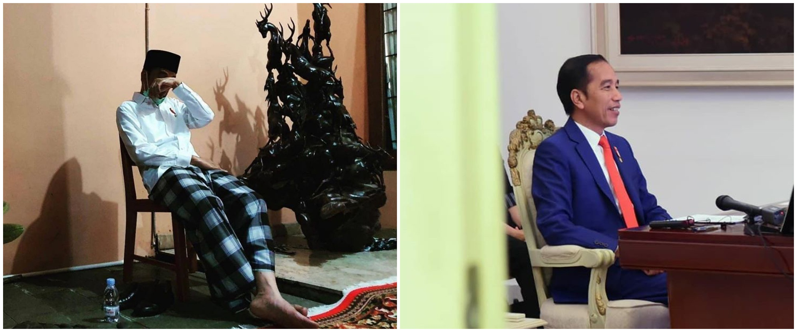 8 Momen Jokowi hadiri video conference KTT G20 usai makamkan ibunda