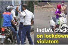 9 Video aksi tegas polisi India ingatkan pelanggar lockdown